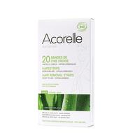 Acorelle Koude wasstrips bio lichaam 20st + olie 4,8ml