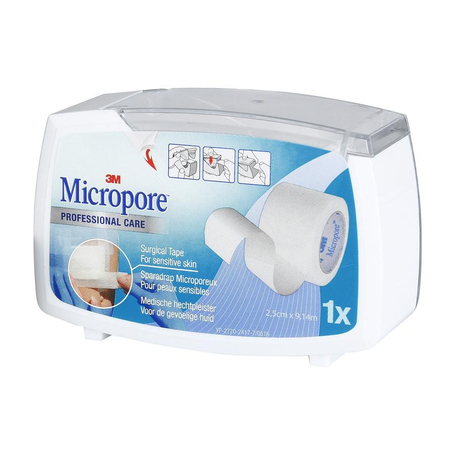3M Micropore 25,0mmx9,1m dispenser 1st