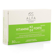 Alfa vitamine k2 d3 forte softgel 30