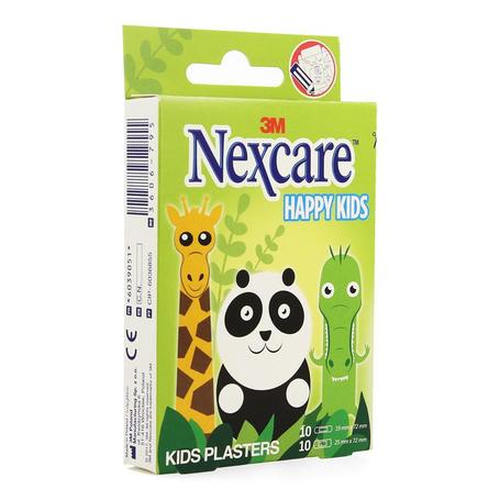 Nexcare Happy Kids Animaux pansements 20pc