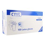 Cmt Handschoenen latex wit 100st