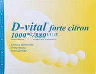D vital forte citron 1000/880 efferv. sach 90